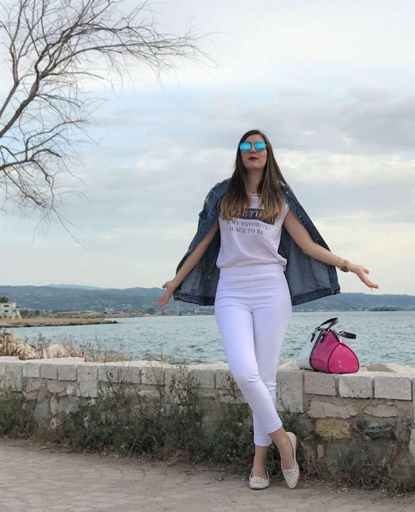 colorblock armani jeans bag