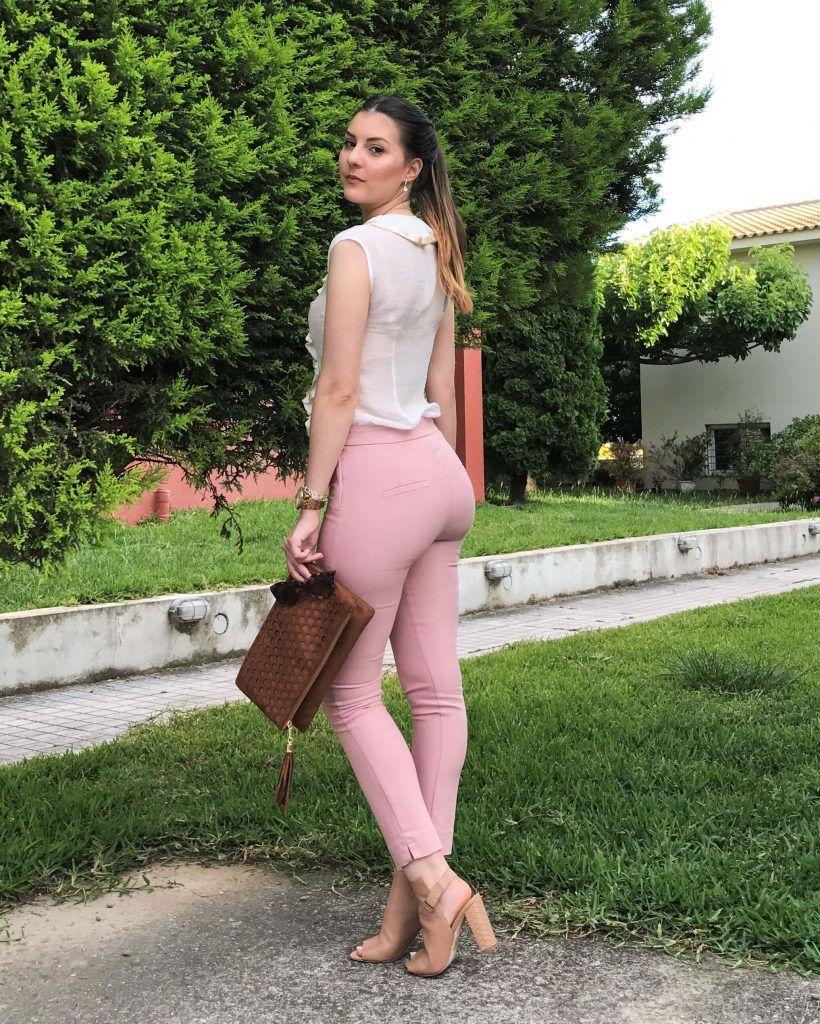 millenial pink pants