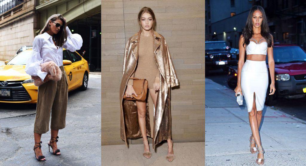 fur heels outfit