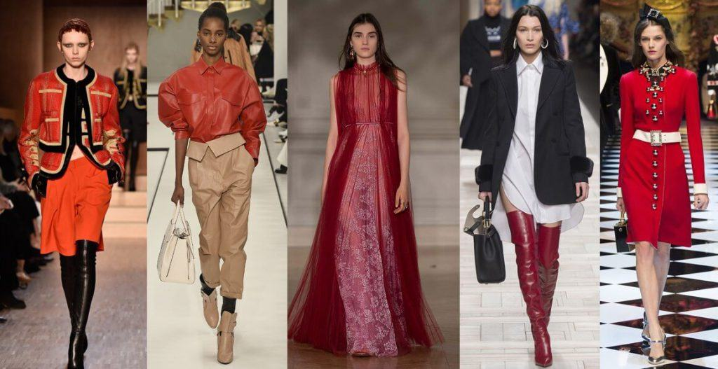 fall winter 2017 trends red