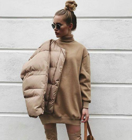 dress sporty casual in beige
