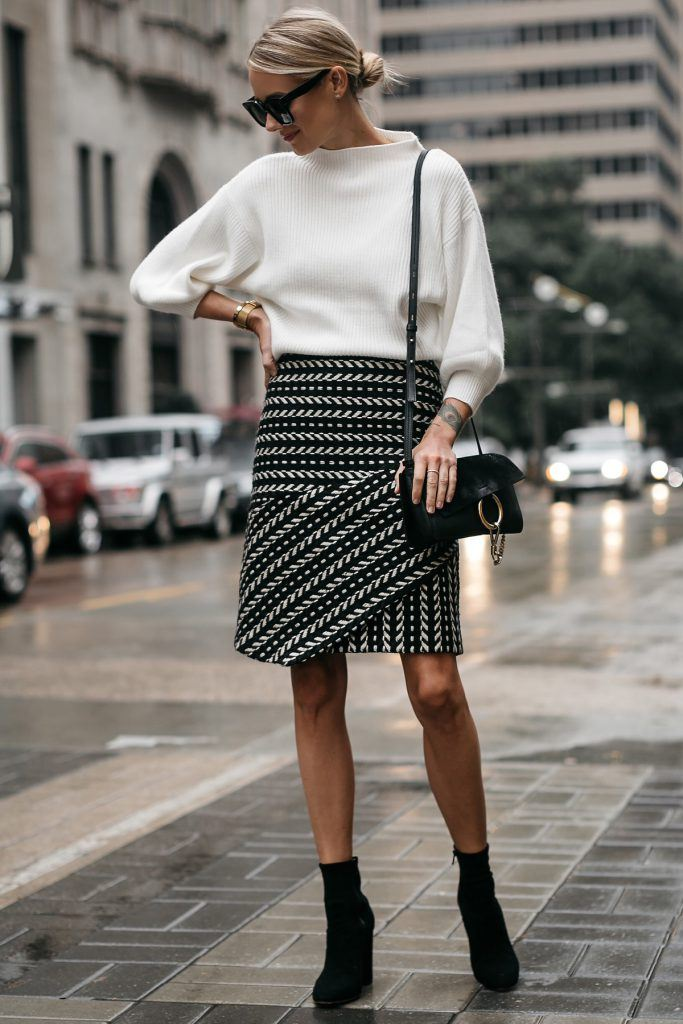 skirt with oversized sweater