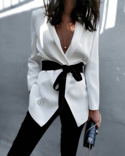 white blazer look