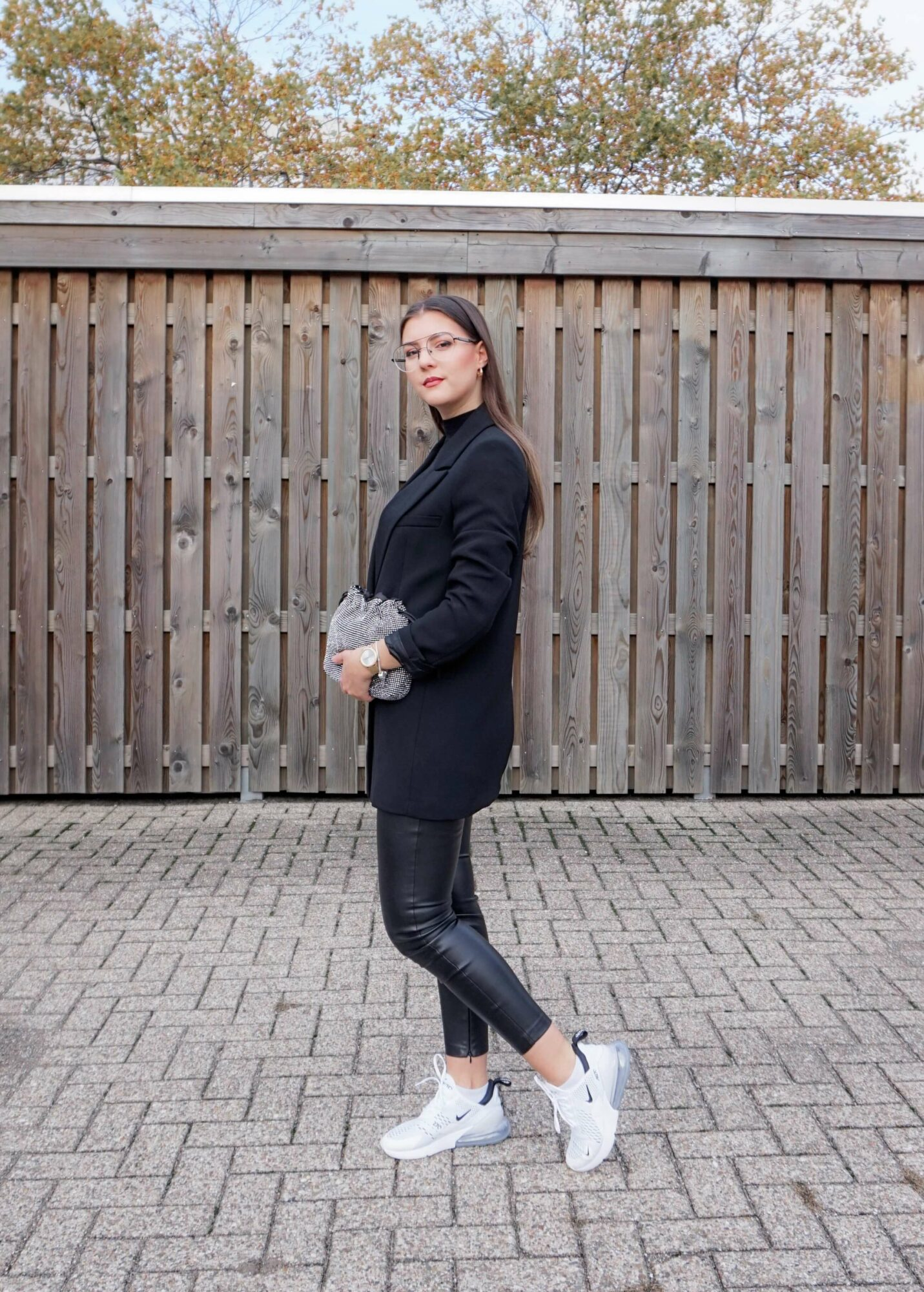 blazer with sneakers outfit