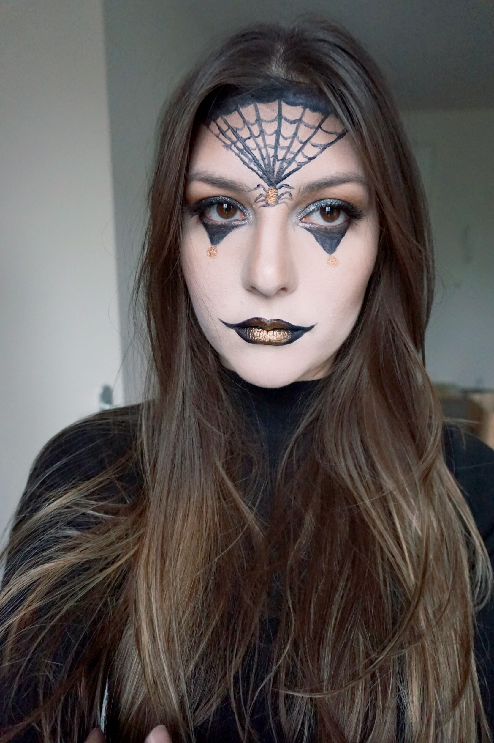 dark halloween make up tutorial