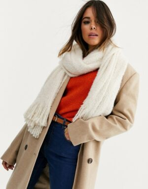 ivory blanket scarf