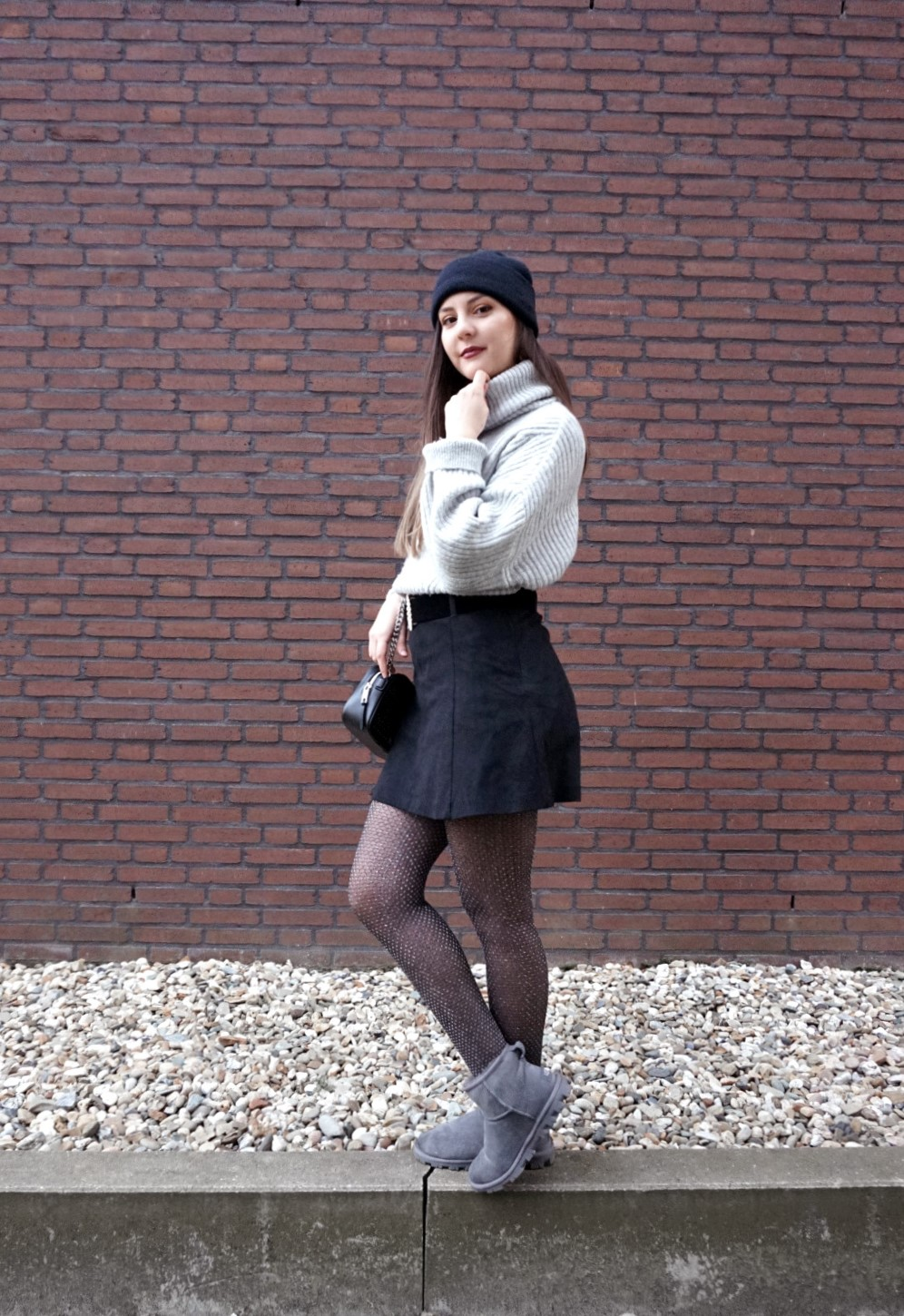chunky knit outfit