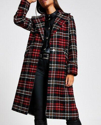 classic clothing essential plaid coat