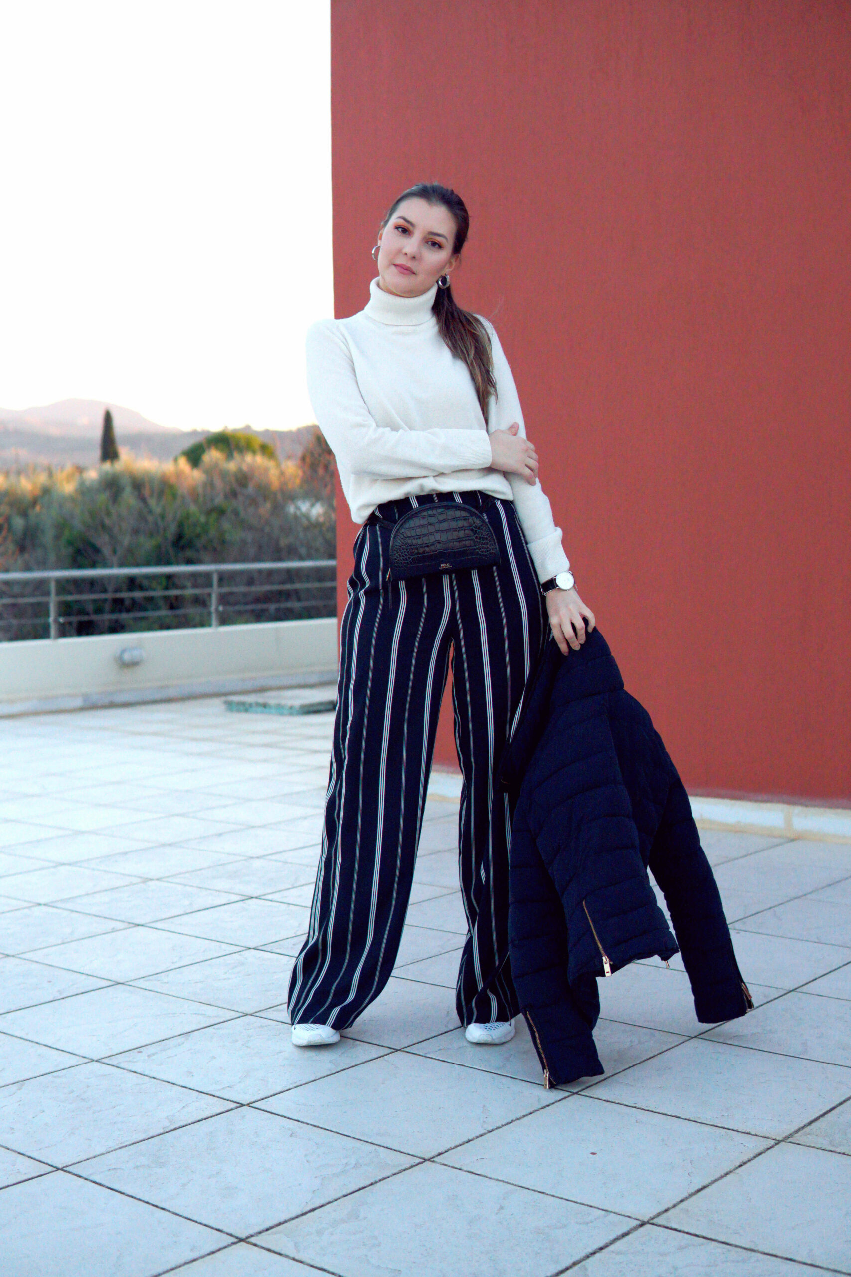 palazzo trousers look